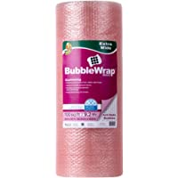Duck Brand Anti-Static Bubble Wrap Cushioning, Extra Wide 24-Inch x 50-Feet, Pink (285793)