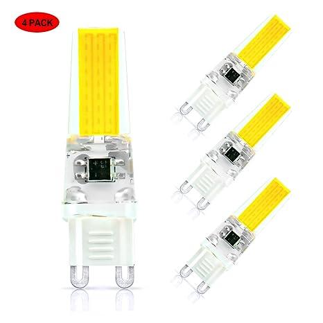Paquete de 4 bombillas LED G9 de 5W, Lifebee G9 2508 Cápsula LED de bombilla