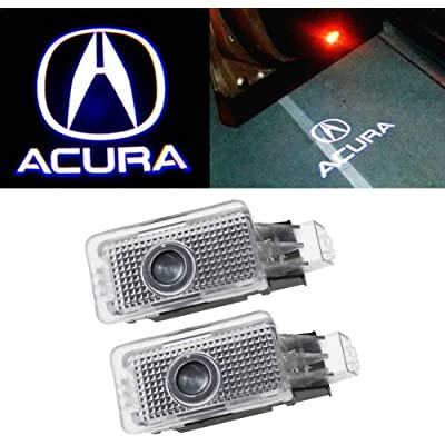 2-Pack Ultra-Bright LED Courtesy Puddle Lights, Car Door Logo Projector Step Light, For Acura TL TLX RLX ZDX MDX: Automotive