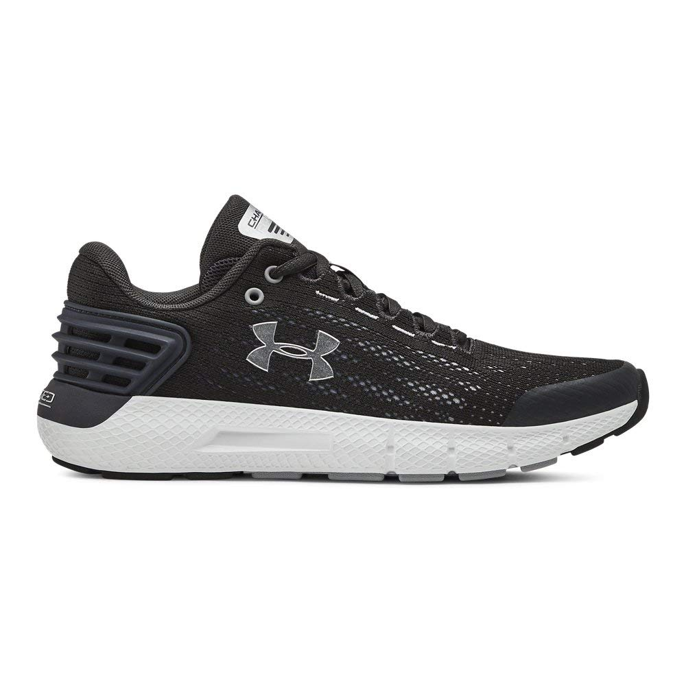 Under Armour Boys' Grade School Charged Rogue Sneaker, Jet Gray (100)/White, 6