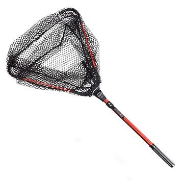 TAKEMORE7 Mini Red de Pesca Triangular, Aleación de Aluminio Telescópico Plegable Red de Aterrizaje,
