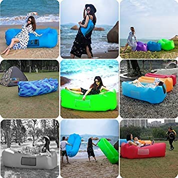 Camping Chair Park and Beach Parties /& Festival Accessories /… LAMTWEK Fast Inflatable Couch,Air Sofa for Break,Indoor or Outdoor Portable air Lounger with Carrying Bag,Stake for Travelling Hiking
