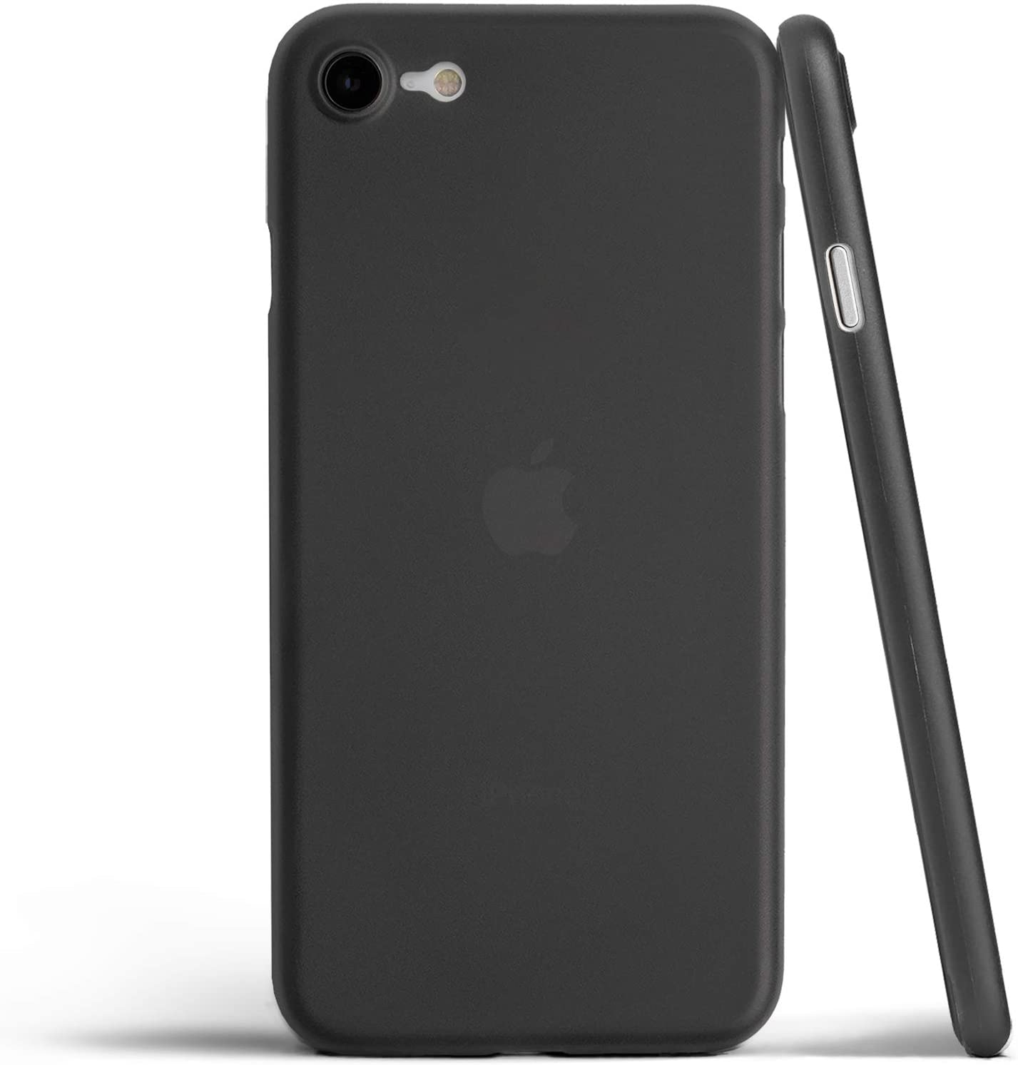 totallee Thin iPhone SE Case, Thinnest Cover Ultra Slim Minimal - for Apple iPhone SE (2020) (Frosted Black)