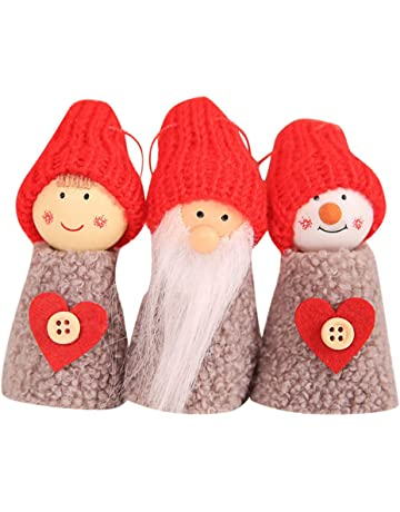 464d97ad5085f 3PCS Christmas Decoration Vovotrade Christmas Santa Claus Ornament Creative  Old Man Doll Small Hanging White Pine