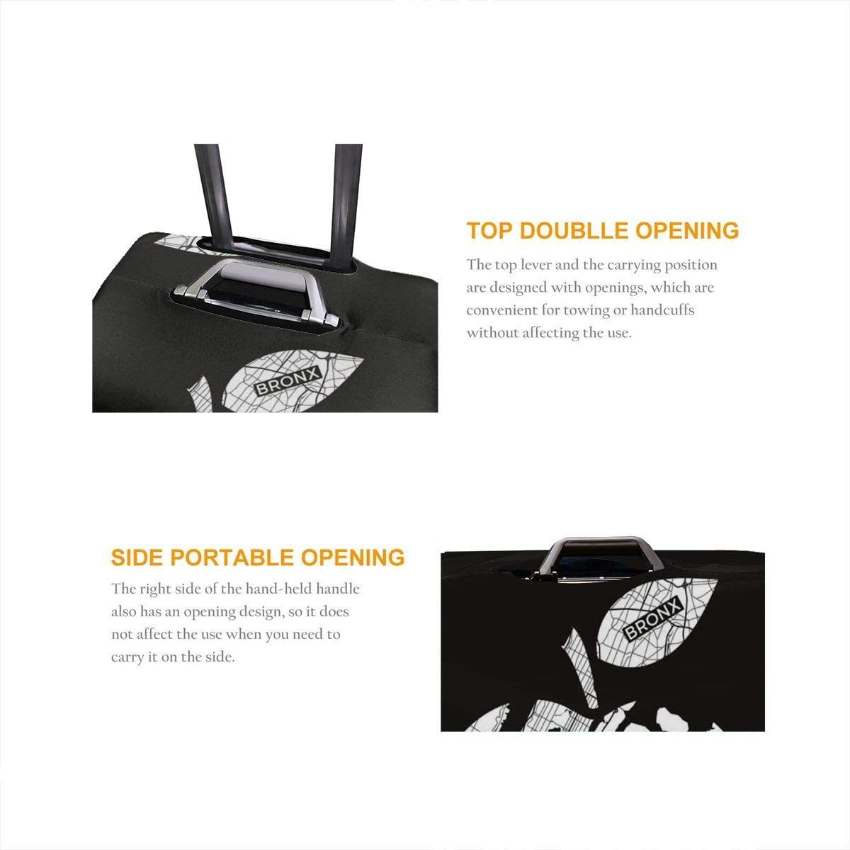 Travel Luggage Cover The CITY OF NEW YORK Design Travel Suitcase Protector Anti-scratch Washable Dust Thicken Elasticity Cover
