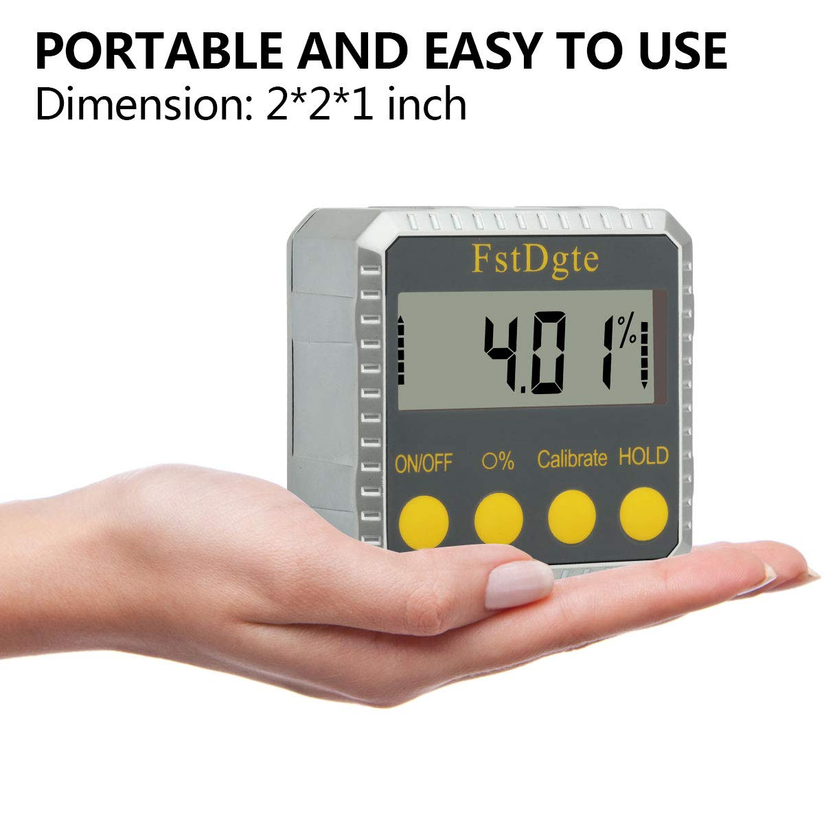 Digital Protractor Angle Gauge Finder Level Bevel,Zinc Alloy Magnetic Base Data Hold,Absolute//Relative,Degree//Slope /% Conversion,for Miter Saw,Woodworking,Repair Industry etc,Lifetime Warranty