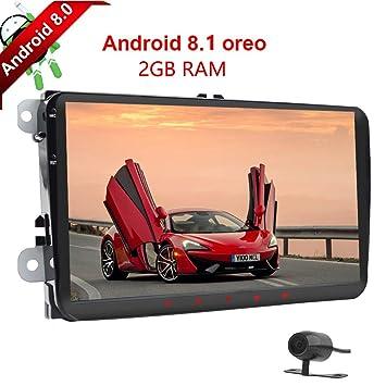 Android 8.1 4Core 2GB RAM 2Din Jugador de coche con GPS Pantalla táctil de 9 pulgadas