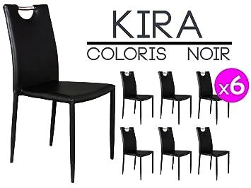 altobuy kira set of 6 chairs black amazon co uk kitchen home rh amazon co uk
