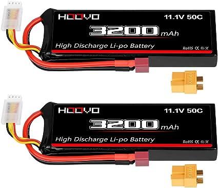 2X 3S 11.1V 3000mAh 30C Li-po RC Battery with Dean Plug for RC Car Airplane Boat