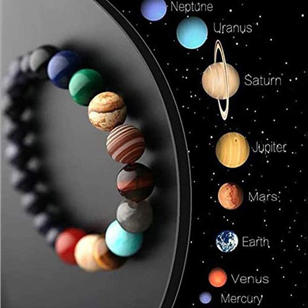 Butiline Planet Beads Bracelet,Handmade Galaxy Solar System Bracelet,Casual Natural Stone Geometric Solar System Bracelet