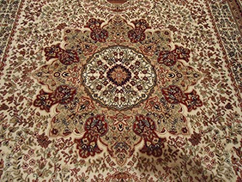Amazon.com Silk Ivory Rug Persian Rugs 2x4 Door Mats Cream Carpet Area Rugs 2x3 Front Rugs Traditional Luxury Foyer Rugs Small Rugs for Bedroom (2u0027x4u0027 ... & Amazon.com: Silk Ivory Rug Persian Rugs 2x4 Door Mats Cream Carpet ...