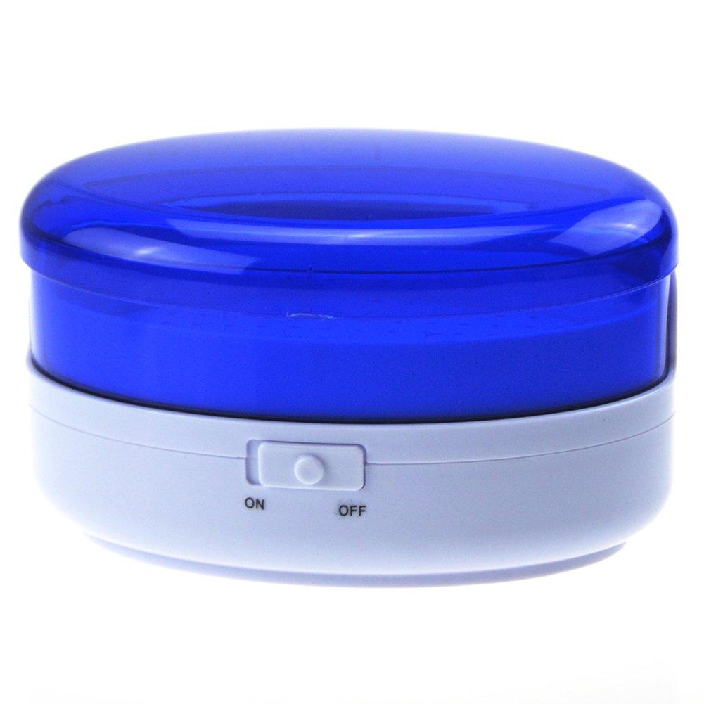Ocamo Portable USB Plug Mini Ultrasonic Cleaner Washing Unit for Jewelry Glasses Home Appliances blue