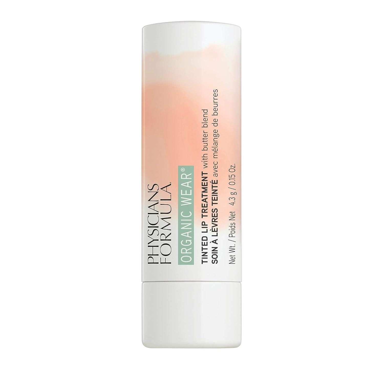 Physicians Formula Organic Wear Tinted Lip Treatment, Flirt-Tawny Nude, 0.15 Ounce