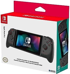 Hori Nintendo Switch Split Pad Pro (Black) Ergonomic Controller for Handheld Mode - Officially Licensed By Nintendo - Nintendo Switch