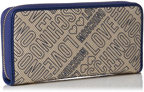 Moschino Multicolore blue cm Blu H 3x10x20 x Love Natural Pochettes Canvas femme Canvas B pu T Portafogli Naturale 8qWBOwdP