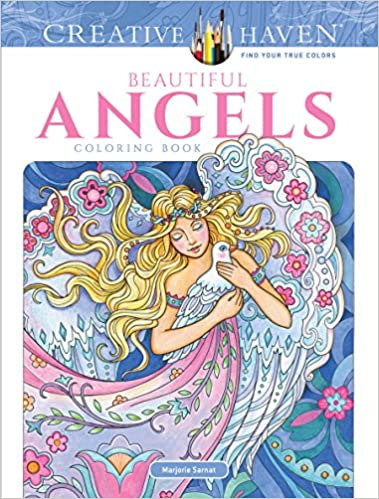 Amazon.com: Creative Haven Beautiful Angels Coloring Book (Adult ...