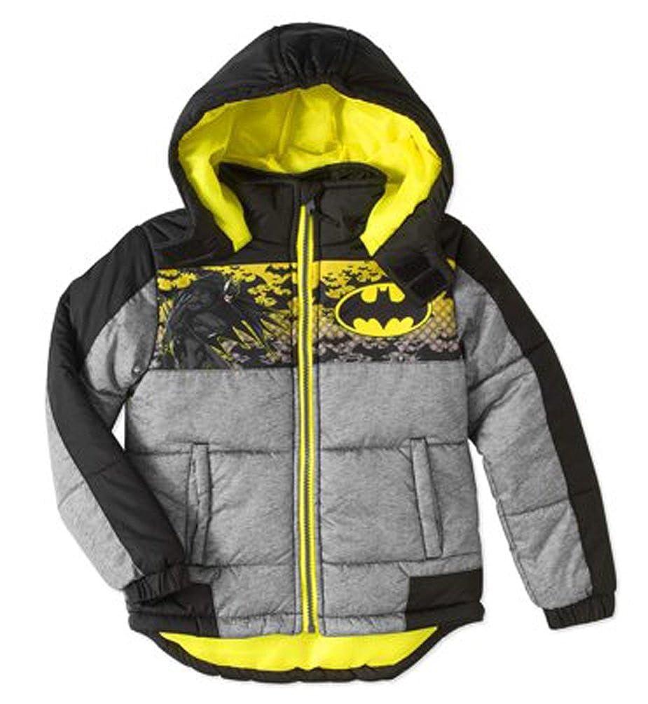 DC Comics Boys Batman Winter Puffer Coat Hooded Jacket 7)