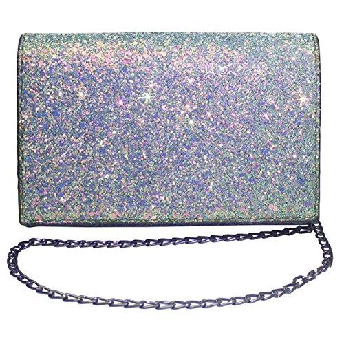 Womens Mini Purse Glitter Handbags Crossbody Bags Chain Shoulder for Girls by Ichic Boutique