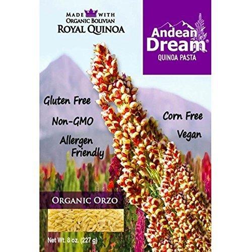 Andean Dream Organic Orzo Quinoa Pasta, 8 Ounce - 12 per case.