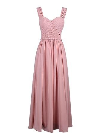 30ff3405dcf18c Dressystar Kleid Damen Kleid mit Trägern lang, Musselin: Amazon.de ...