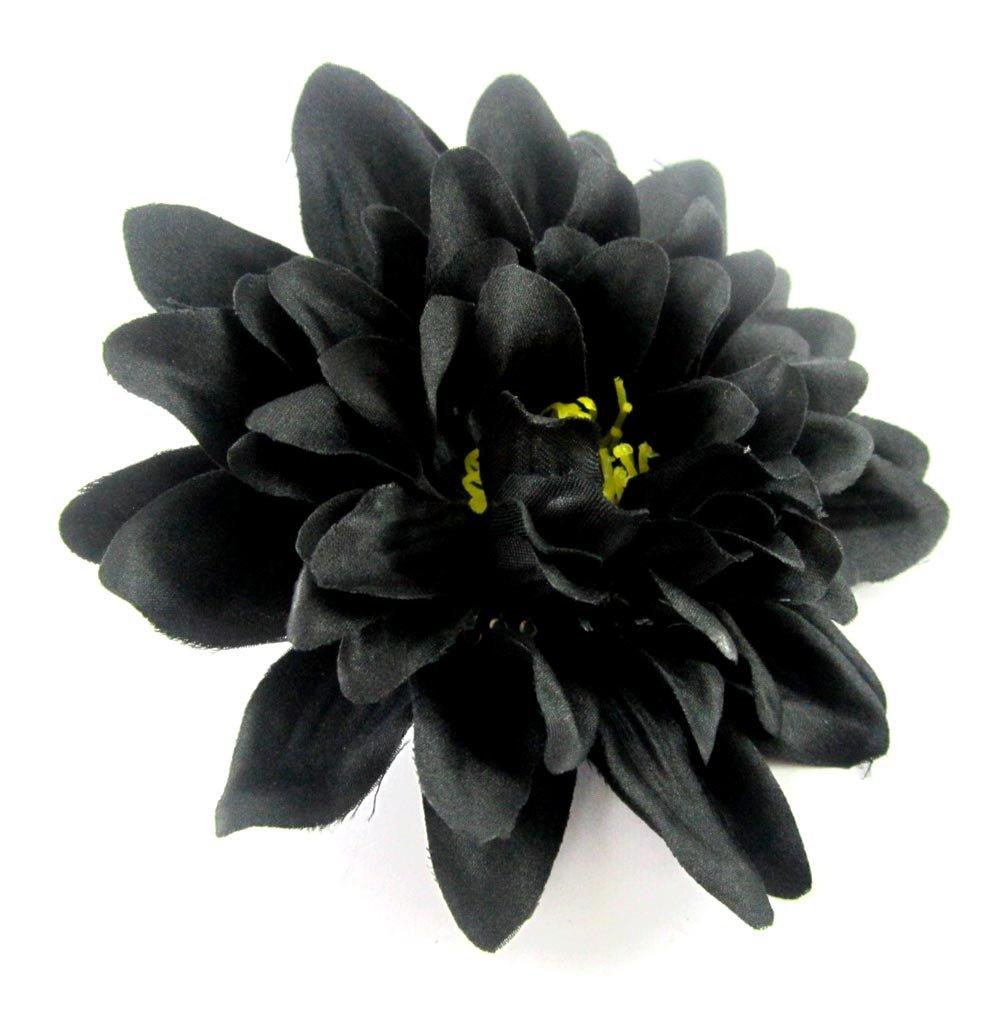 Amazon 12 Black Silk Dahlia Flower Heads 4 Artificial