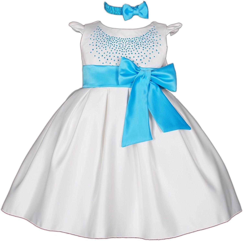 Cinda per ragazze Vestitino da cerimonia con fascia