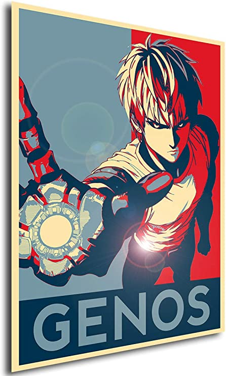 Amazon Com Instabuy Poster One Punch Man Propaganda Genos Variant Formato A3 42x30 Cm Posters Prints