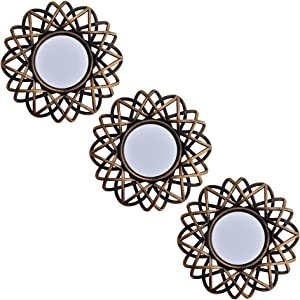 Small Wall Mirrors Decorative Set of 3   Round Mirrors for Wall Decor Bedroom Living Room   Circle Mirror Wall Decor   Decorative Mirrors