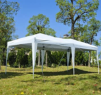 Outsunny Easy Pop Up Canopy Party Tent 10 x 20-Feet White : white canopy tent 10x20 - memphite.com