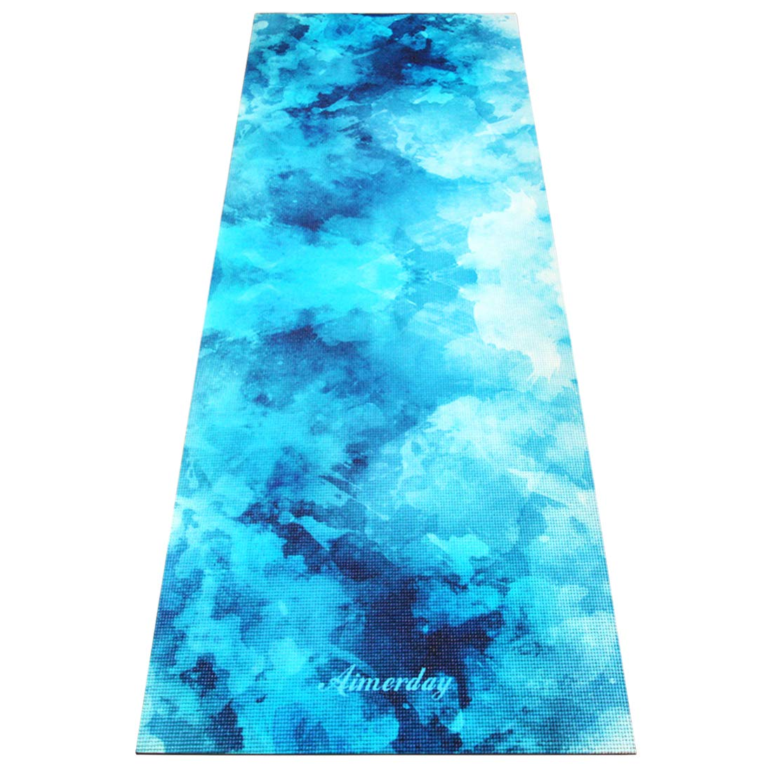 AIMERDAY Yoga Mat Premium Print Non Slip Eco Friendly Pilates Mat 72 inch  1/4 inch Thick Fitness Exercise Mat, Home Gym Workout Mat with Carrying