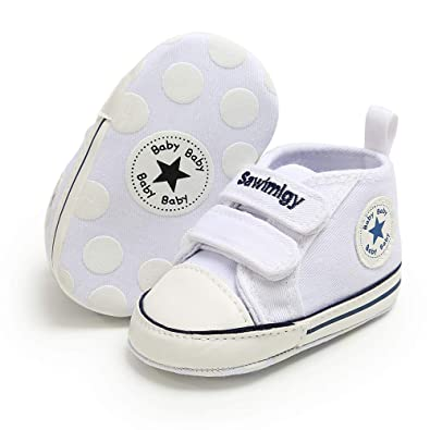 e7fe6984846 Babycute Infant Canvas Shoes Trainers Soft Sole Casual Sneakers Baby Boys  Girls First Walkers Shoes Lace Up