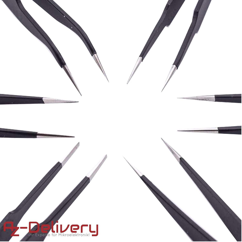 15 para soldaduras 6x L/ötwerkzeug AZDelivery ⭐⭐⭐⭐⭐ Soldado l/ötwerkzeug y pinzas antiest/áticos ESD 10