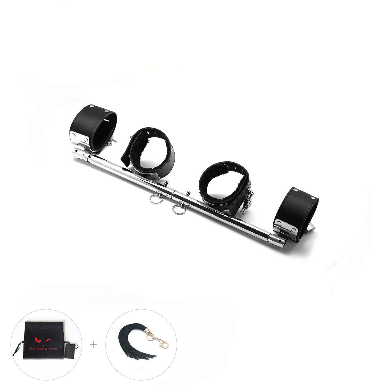 SCARLET KITTEN Spreader Exercise Bar with 4 Adjustable Straps Set, Silver by SCARLET KITTEN