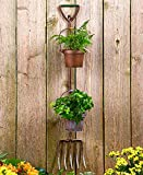 Rustic Pitch Fork Tool Planters