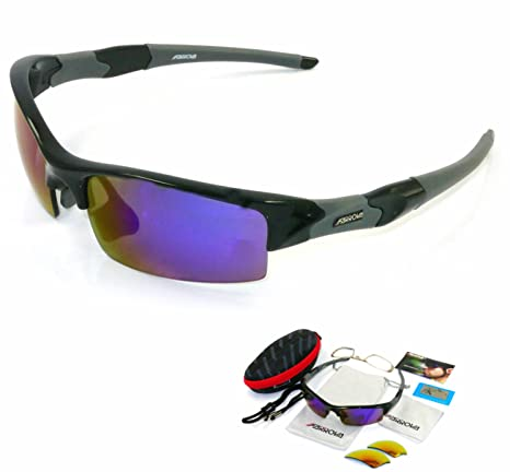 9d83c7899ce FARROVA - AX5061 Extreme Series Polarized Sunglasses Cycling Grilamid TR90 Frame  Sports Sunglasses for Men
