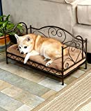 The Lakeside Collection Scrolled Metal Pet Beds (Bronze)