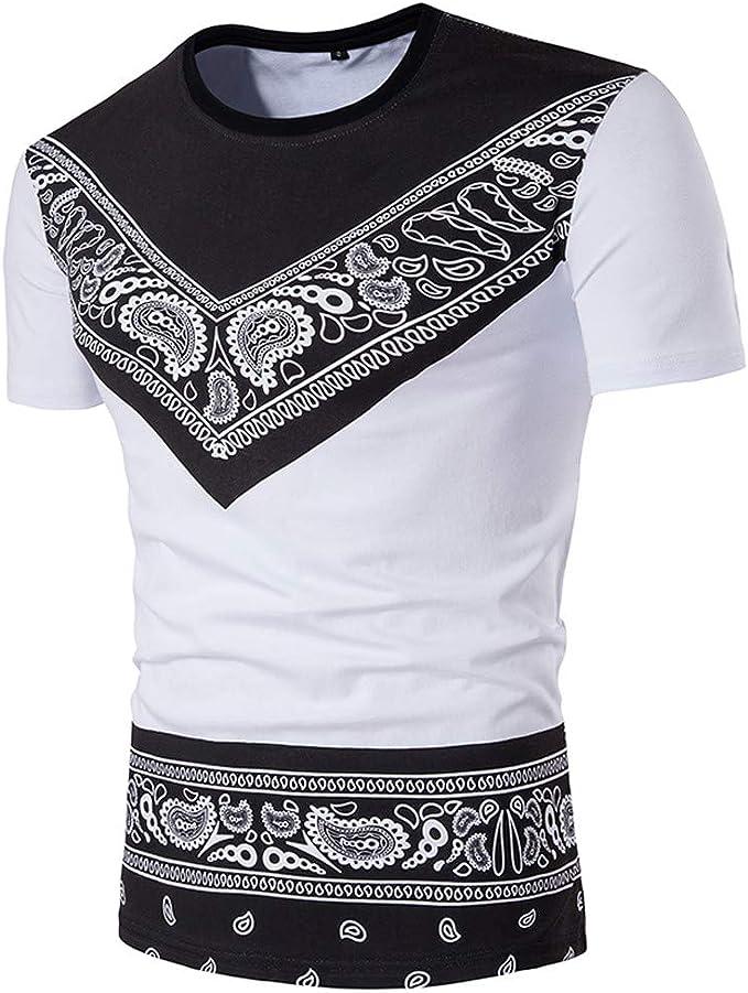 Oliviavan Camiseta para Hombre, Camisetas Casual Hombre Manga Corta Algodon Hombre Blanco Camisas para Hombre Elegante Camiseta: Amazon.es: Ropa y accesorios