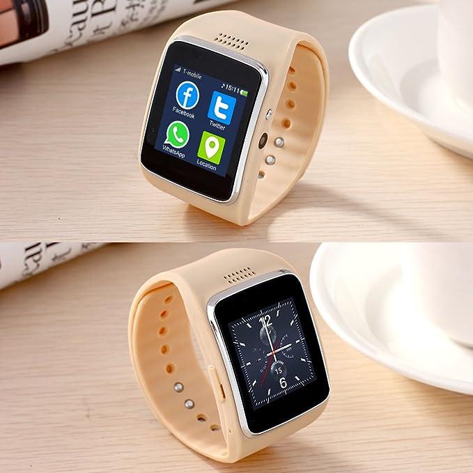 Aiwatch reloj inteligente con la cámara Z30 FM Video Bluetooth Fitness TF sincronización SIM para IOS y Android: Amazon.es: Deportes y aire libre