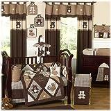 Sweet Jojo Designs 9-Piece Chocolate Brown Teddy Bear Baby Boys Bedding Crib Set
