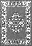 Cheap Couristan 1078/3012 Recife Antique Medallion/Grey-White 2-Feet by 3-Feet 7-Inch Rug