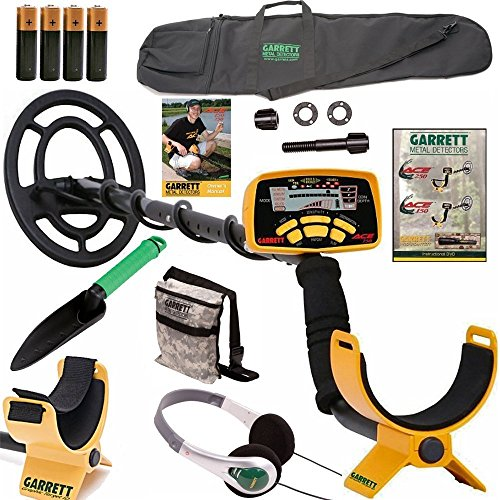 Garrett Ace 250 Metal Detector with Headphones, DVD, Digging Trowel, Finds Pouch and Carry Bag by Garrett