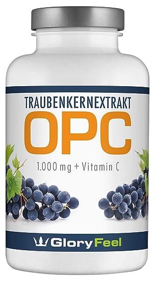 OPC Extracto de Semilla de Uva - 360 cápsulas de OPC puro y concentrado más Vitamina