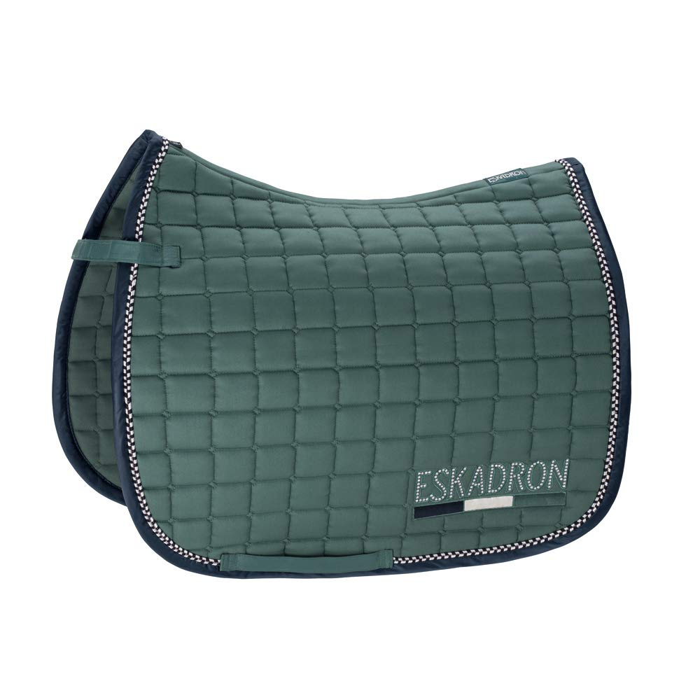 GP (VS) Eskadron Classic Sports Cotton Crystal Saddlecloth Seapine Green