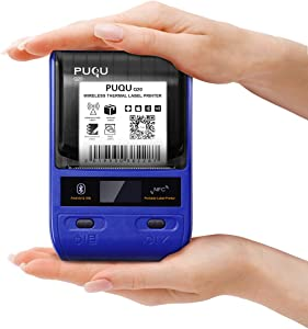 PUQU Label Printer | Portable Bluetooth Thermal Label Maker Q20 with Rechargeable Battery, Apply to Labeling, Shipping, Office, Cable, Retail, Barcode and More, Compatible for Android & iOS System