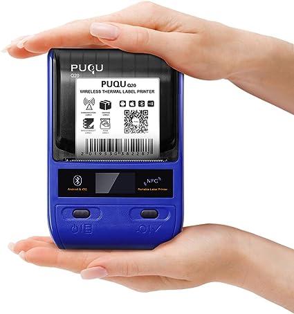 PUQU Impresora de Etiquetas Bluetooth, portátil inalámbrico ...