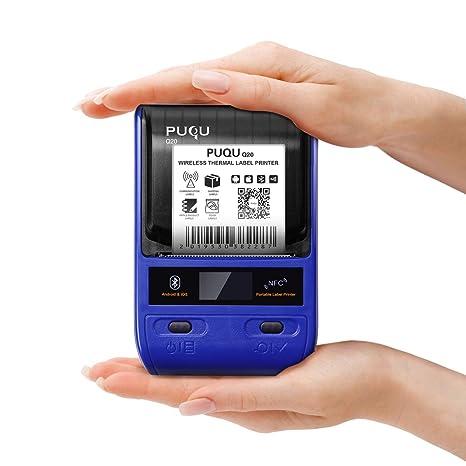 PUQU Impresora de Etiquetas Bluetooth, portátil inalámbrico térmico Q20 con batería Recargable, súper Ligero e impresión HD para Android & iOS Sistema ...