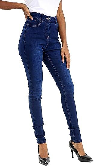 Womens Dark Blue Wash Skinny Denim Jeans Jeggings Trousers Plus sizes 8 to 22