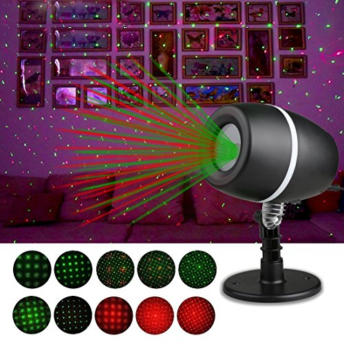 Westdeer Garden Laser Ligh Christmas Projector Lights,Red and Green Star Laser Show for Halloween, Christmas, Garden, Party, - Tree Mall Green Hours Store