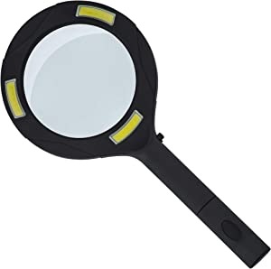 SteadMax Handheld Magnifying Glass with LED Lighting