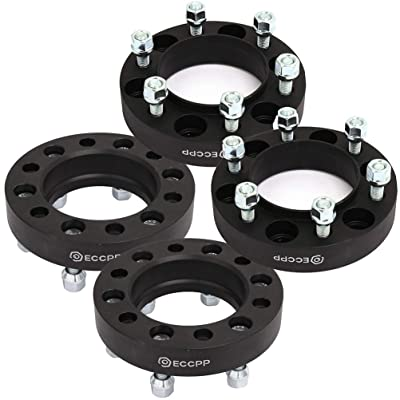 "ECCPP 4x 6 LUG Hub Centric Wheel Spacers 1.25"" 6x5.5 to 6x5.5 6x139.7mm to 6x139.7mm 106mm 12x1.5 Fits for Toyota Tacoma Tundra 4 Runner Sequoia FJ Cruiser: Automotive"
